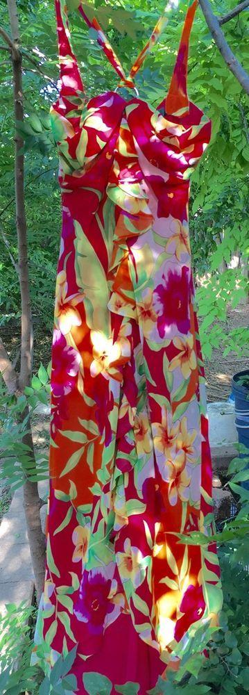 Ralph Lauren Floral Tropical Sexy Halter Dress ~ Ladies Size 8 #LaurenRalphLauren #Sundress #Casual