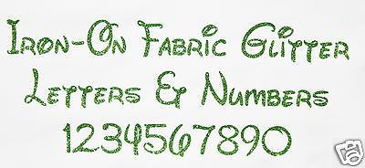 Iron-on glitter #letters light #green + free hot-fix #rhinestones ,  View more on the LINK: http://www.zeppy.io/product/gb/2/131869793181/