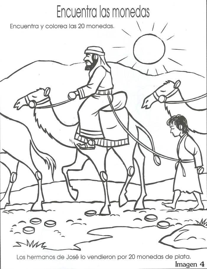 Jozef wordt meegenomen naar Egypte. Zoek de 20 muntstukken