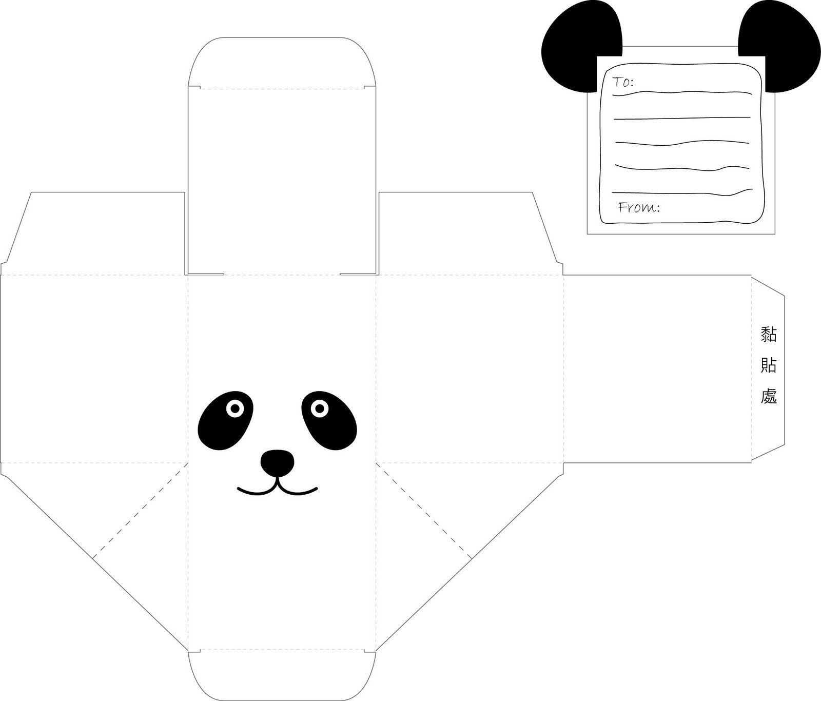 b4523670a38272 artesanato de papel: fazer uma caixa de doces do presente panda ...