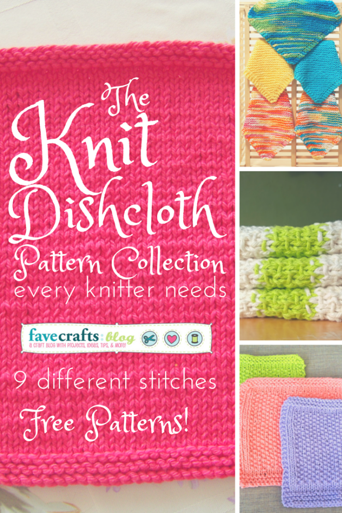 The Knit Dishcloth Pattern Collection Every Knitter Needs | Baño ...