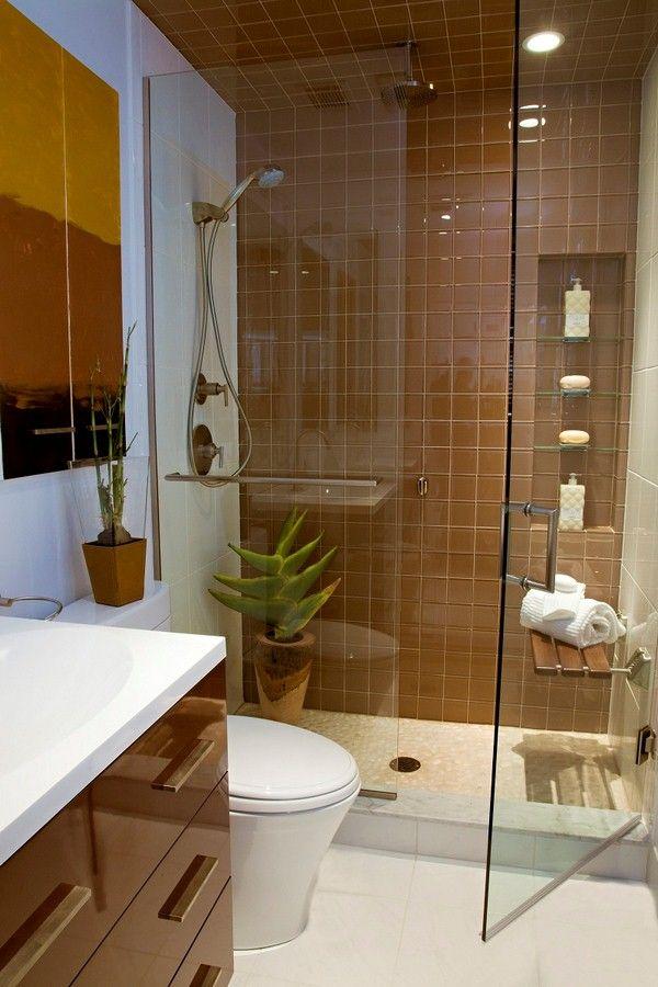 boîtier en verre très petite salle de bains avec douche MAISON