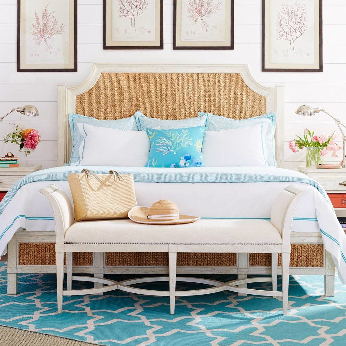 Resort Water Meadow Woven Platform Bed Bed, Bed sizes