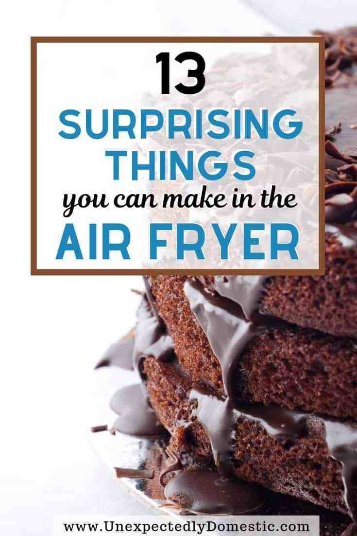 13 Surprising Things You Can Make in an Air Fryer (+ exactly how to do it!) 13 delicious and simple things to make in the air fryer! These easy air fryer meals are the perfect recipes for breakfast, lunch, or dinner! If your air fryer machine is just collecting dust, it's time to bust it out to try one of these easy, healthy ideas (like a whole chicken!). Or how about dessert? Whether you're a foodie who loves to eat or following a low carb keto or weight watchers diet, these are the best meals to make.
