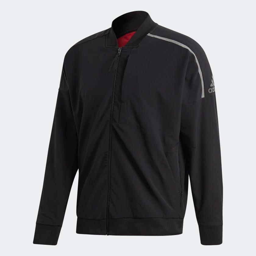 Adidas Z N E Bomber Jacket Black Adidas Us Black Bomber Jacket Jackets Bomber Jacket