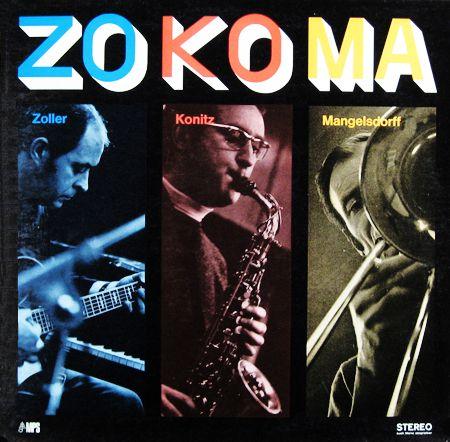 "Lee Konitz, Alila Zoller, Albert Mangelsdorf - ZoKoMa - MPS 15170 [12"" LP] 1968  Design- Claus-Bend Kolbe // Photo- Heinz Finke"
