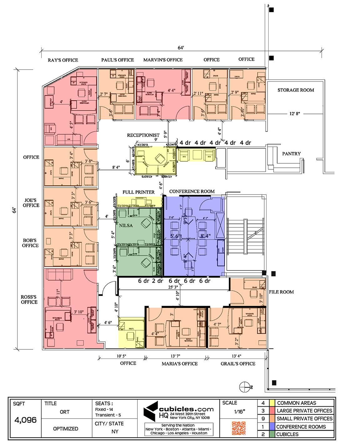 Office layout plan for a g shaped office building for Office floor plan samples