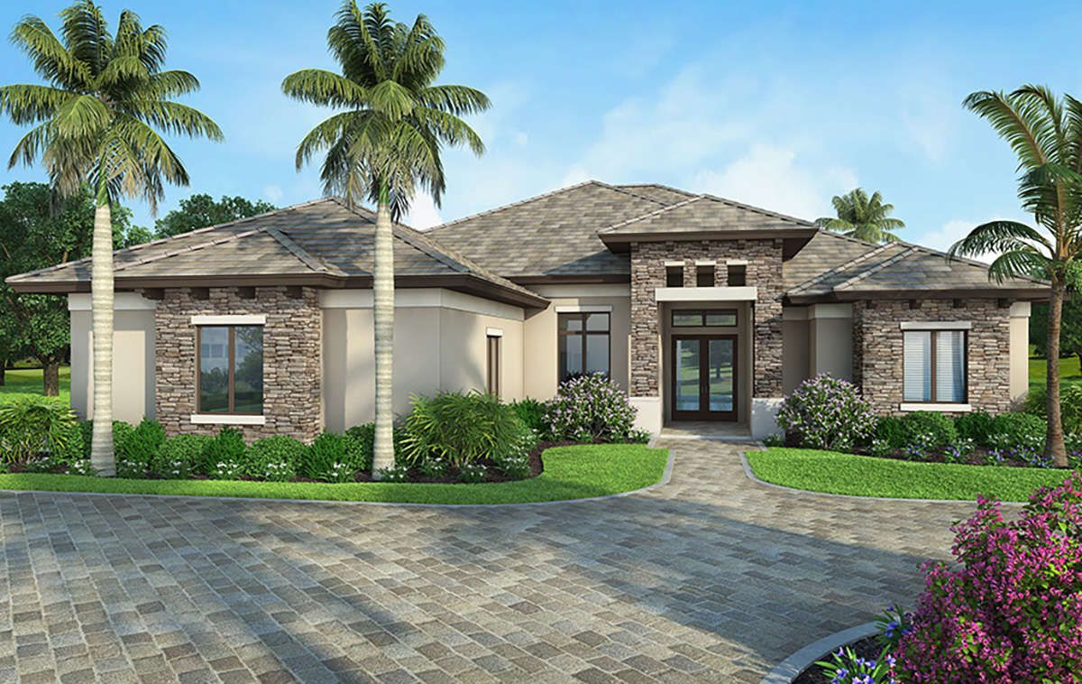 House Plan 207 00054 Florida Plan 2 586 Square Feet 3 Bedrooms 3 Bathrooms Florida House Plans Mediterranean Homes Mediterranean Homes Exterior