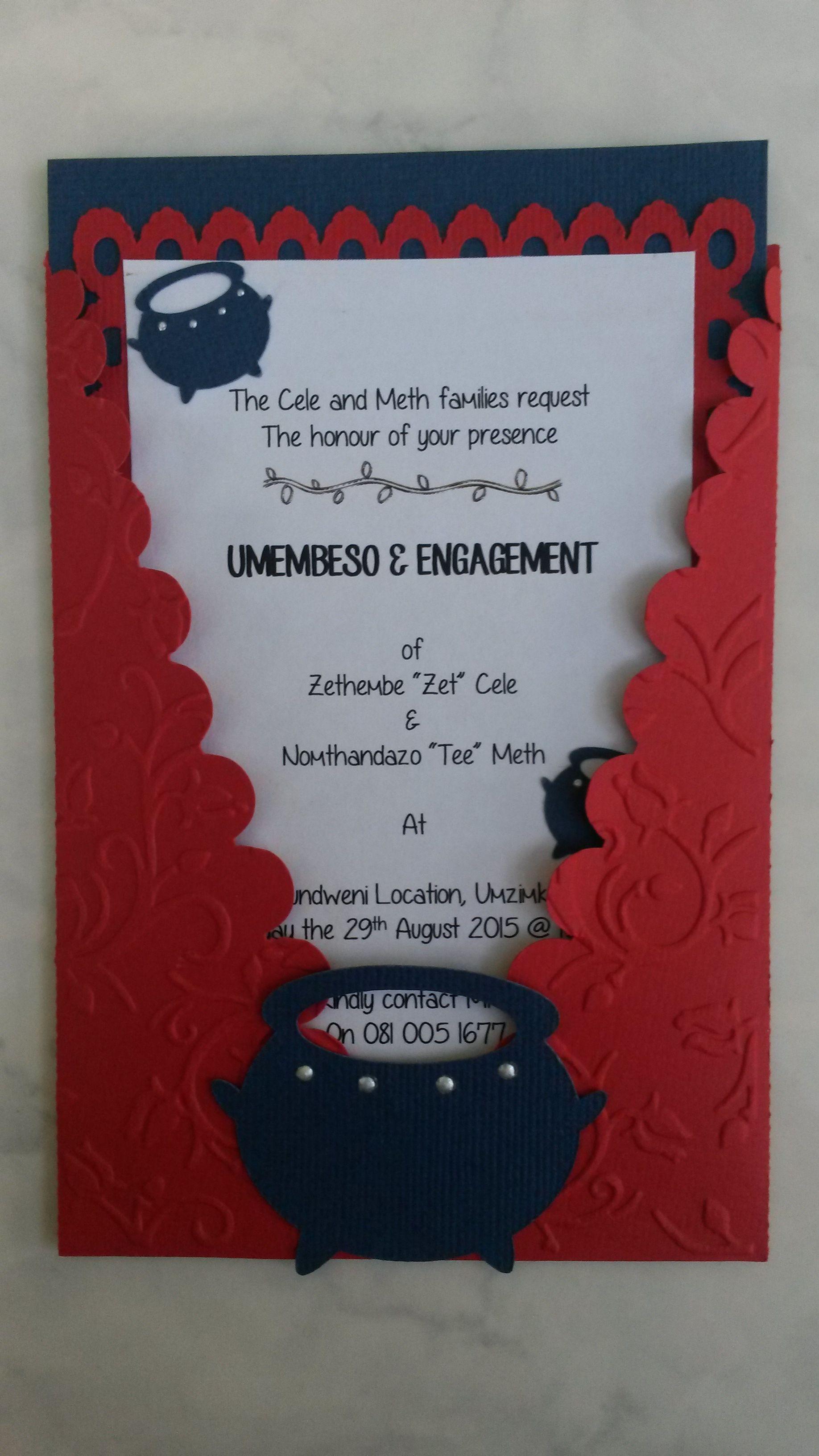 Traditional Zulu Invitation Copyright Creative Flair
