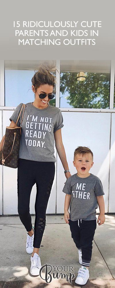 40d72150 15 Ridiculously Cute Parents and Kids in Matching Outfits Mommy And Me Shirt,  Mommy And