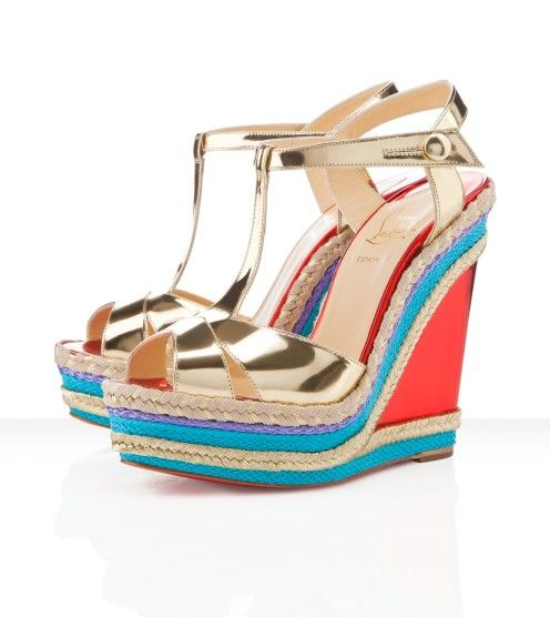 b8c041d7228e Find Quality Discount Christian Louboutin Trotolita Wedges Platine and more  on Christianlouboutinesho
