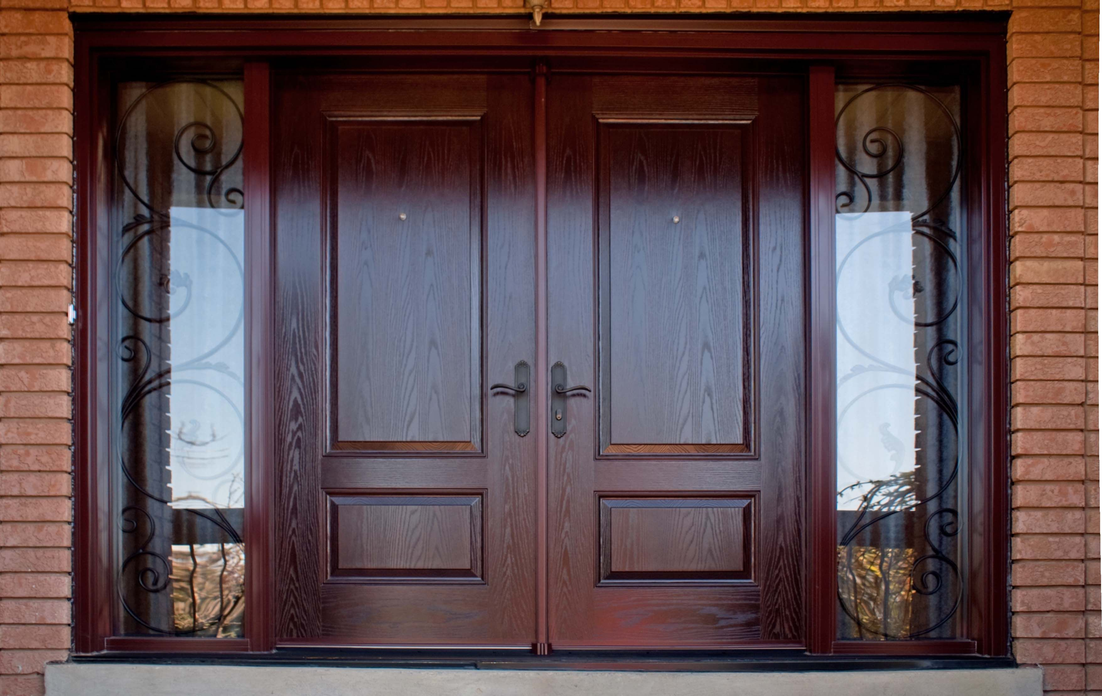 Well liked double modern front door 2 panels hollow core espresso well liked double modern front door 2 panels hollow core espresso finished between clear glass rubansaba