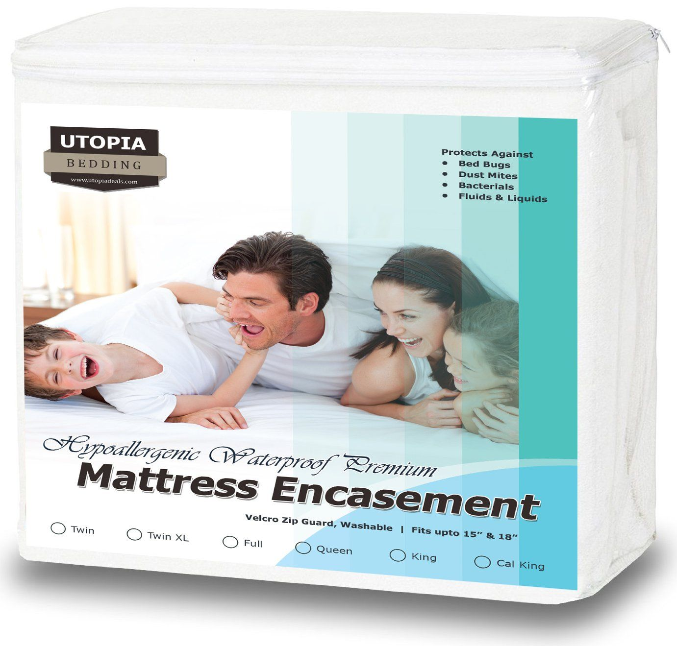 premium zippered waterproof mattress encasement bed bug proof