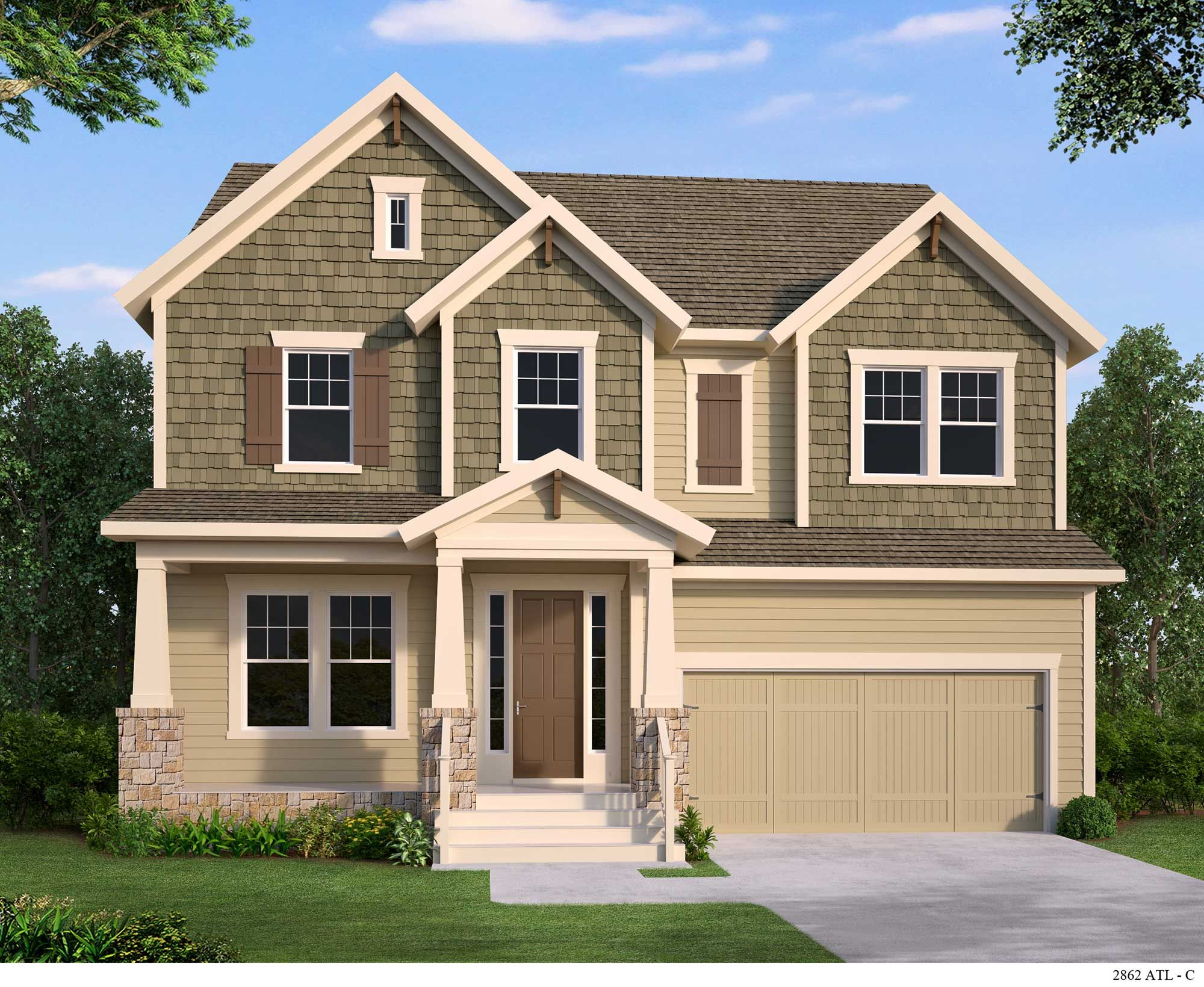 The thorngrove c exterior home builders home new homes