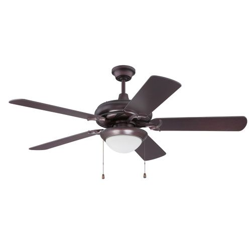 Craftmade Ciu52ob5 Led Civic Oiled Bronze Ceiling Fan With Cherry