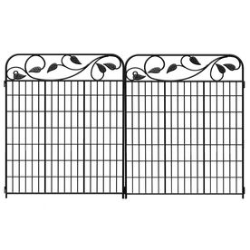 Superior Shop No Dig 44 X 36 Black/Powder Coated Steel Garden Fence Panel At Loweu0027s  Canada. Find Our Selection Of Fence Panels At The Lowest Price Guaranteed  With ...