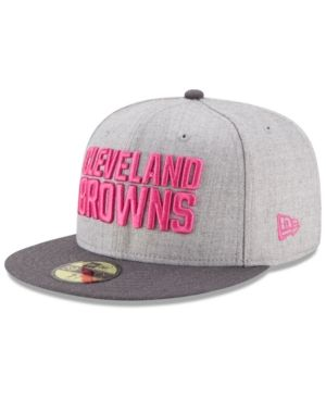 New Era Cleveland Browns Breast Cancer Awareness 59FIFTY Cap - Gray 7 3 4 f6e9fef7a