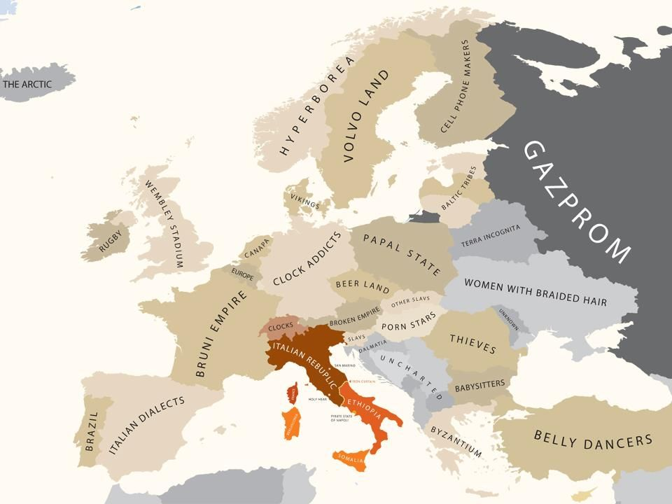 Europe According to Italy Mapping European