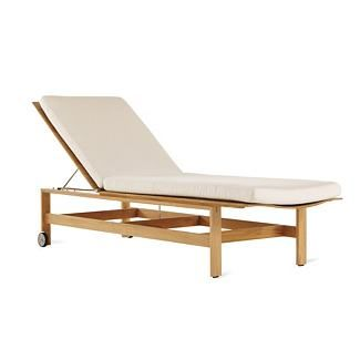 Elan Chaise Lounge ~ Clean lines, lies  flat so I can finally get some sun on my backside, beautiful teak....