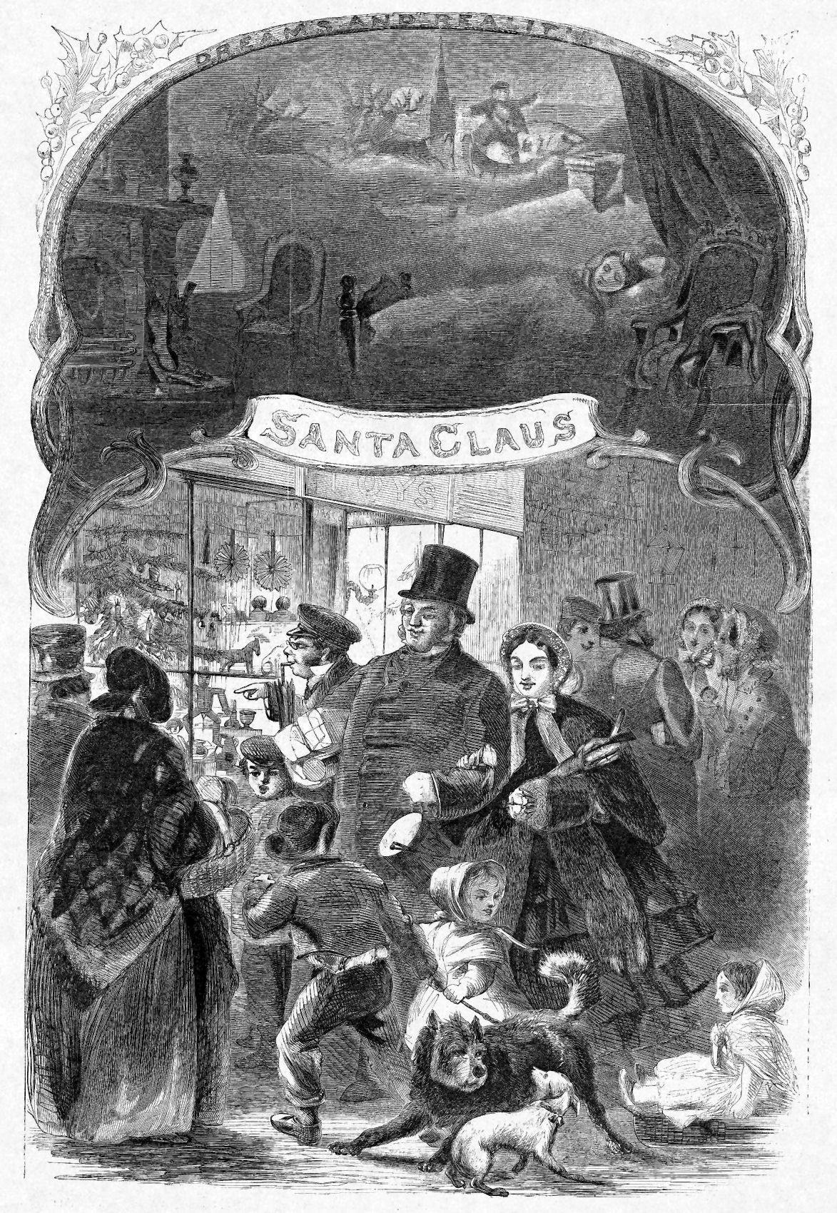 Vintagehandsomemen Christmas History Santa Claus Engraving Illustration
