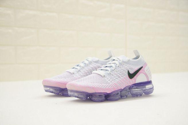 Women Nike Air Vapormax Flyknit 2 0 Hydrogen Blue Pink Black 942843 ... 9abb0960a