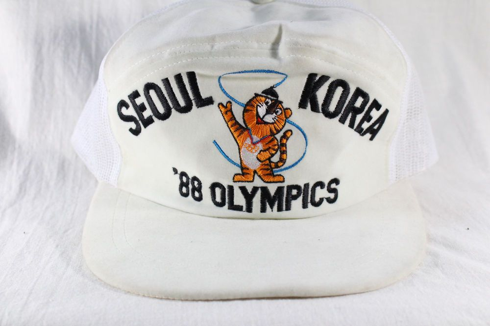 6d1faebb923 VINTAGE 80s OLYMPIC 1988 SEOUL SOUTH KOREA SNAPBACK CAP HAT Hodori Snapback  Rare