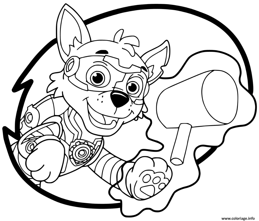 20 Mighty Pups Coloring Pages Rocky Download For Free