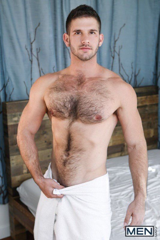 Very hot nude hairy stud with erection