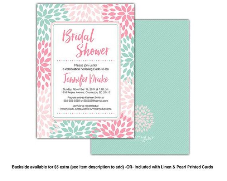 Linen Bridal Shower Invitation Wording