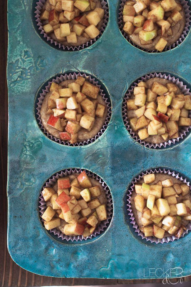 Apfel-Nuss-Muffins | Erntedank im Frankenland | LECKER&Co | Foodblog aus Nürnberg