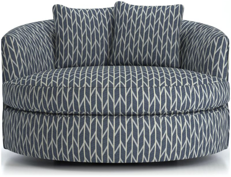 Tillie grand swivel chair crate and barrel swivel