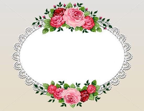 Flower Illustration Flower Frame Vintage Rose Bouquet