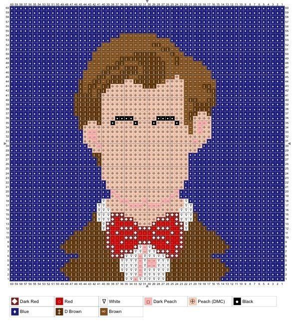 Doctor Who, knit, crochet, charts. Free PDF downloads