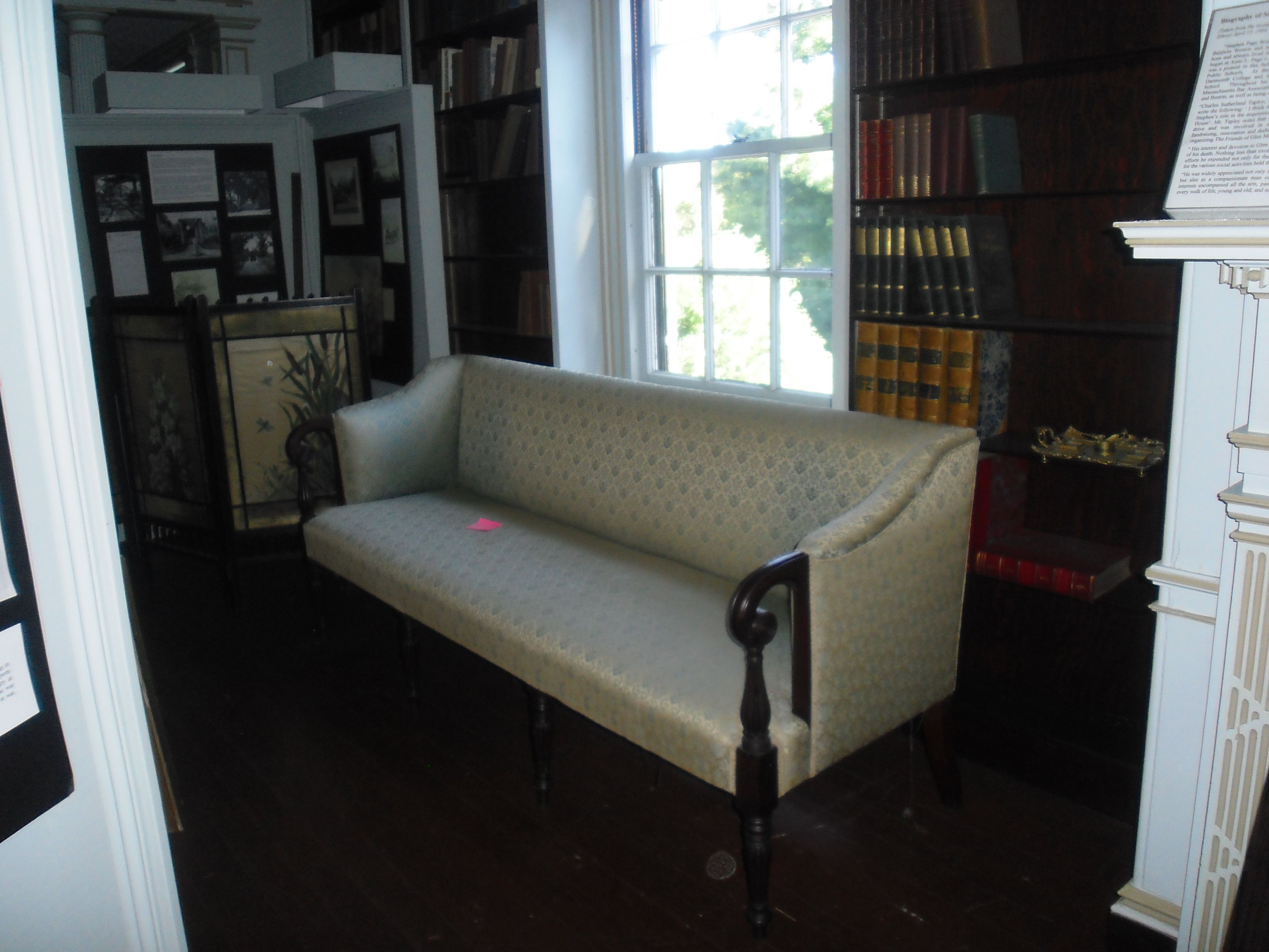 Antique Settee.  Part of the Danvers Historical Society, Glen Magna Farms Collection.