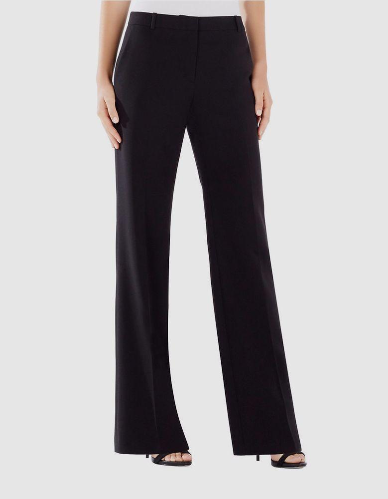 NWT $128 BCBG Paris Black Dress Pants Sz 4 Flare Leg Front Seam ...