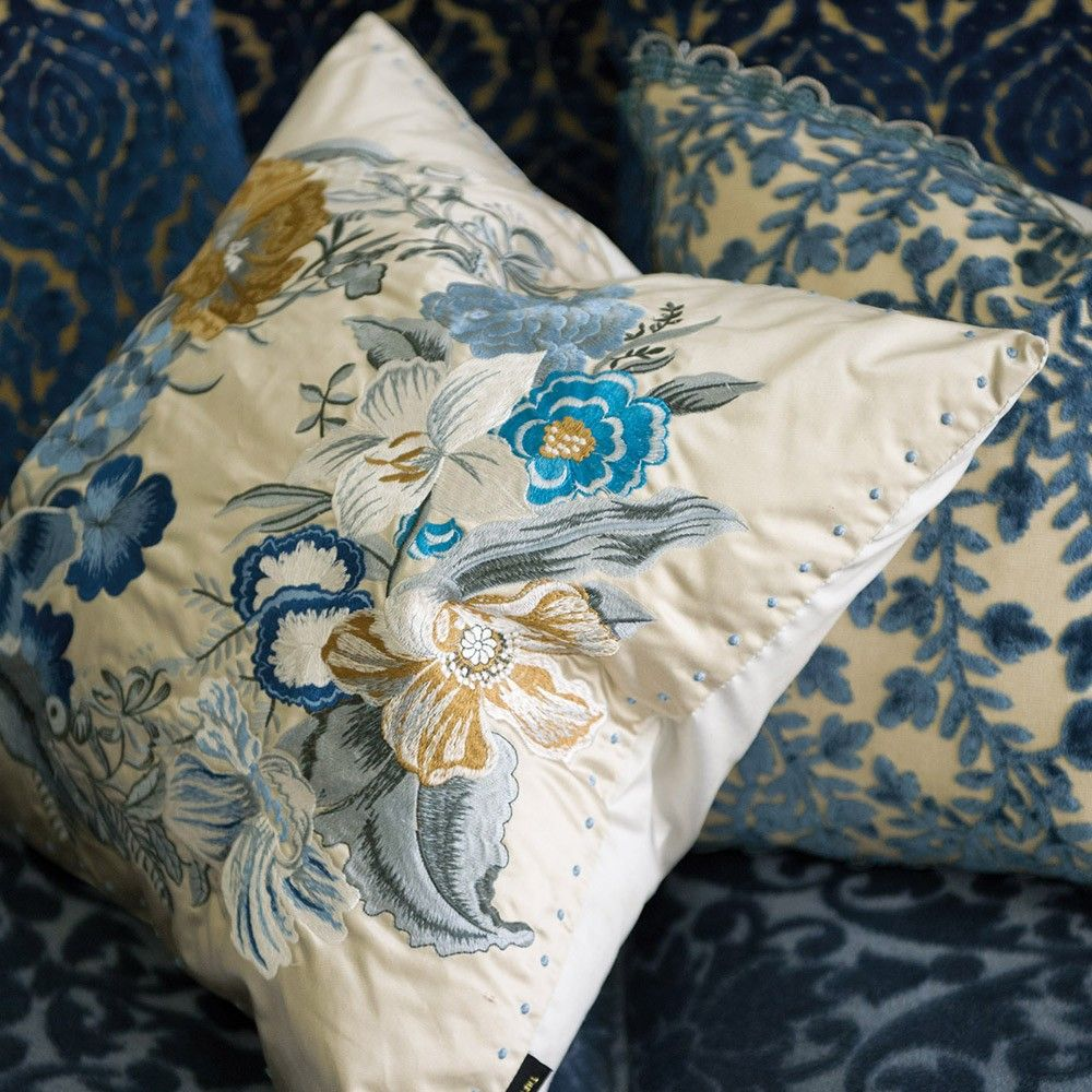 Designers Guild Royal Collection Moser Wedgwood #Cushion #floral #pillow