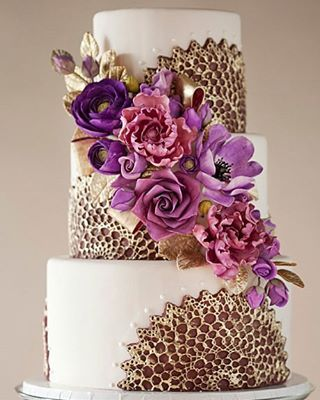 Instagram Post By Pick A Cake Oct 19 2017 At 11 23am Utc Purple Gold Weddingsgold