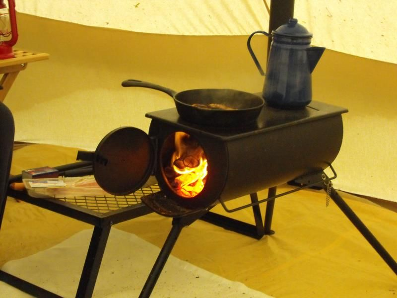 Cooking dinner on a Frontier Stove in a Bell tent #CustomerGallery & Cooking dinner on a Frontier Stove in a Bell tent #CustomerGallery ...