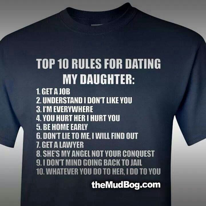 Rules for dating my teenage daughter shirt