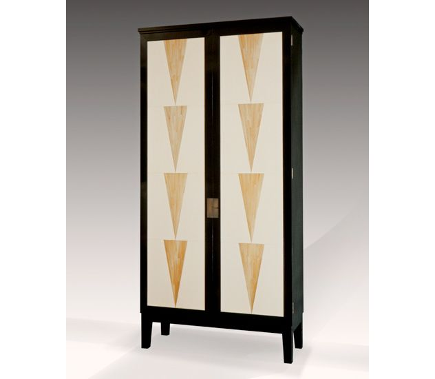 Atelier Viollet Armoire In Ebonized Mahogany Straw Marquetry