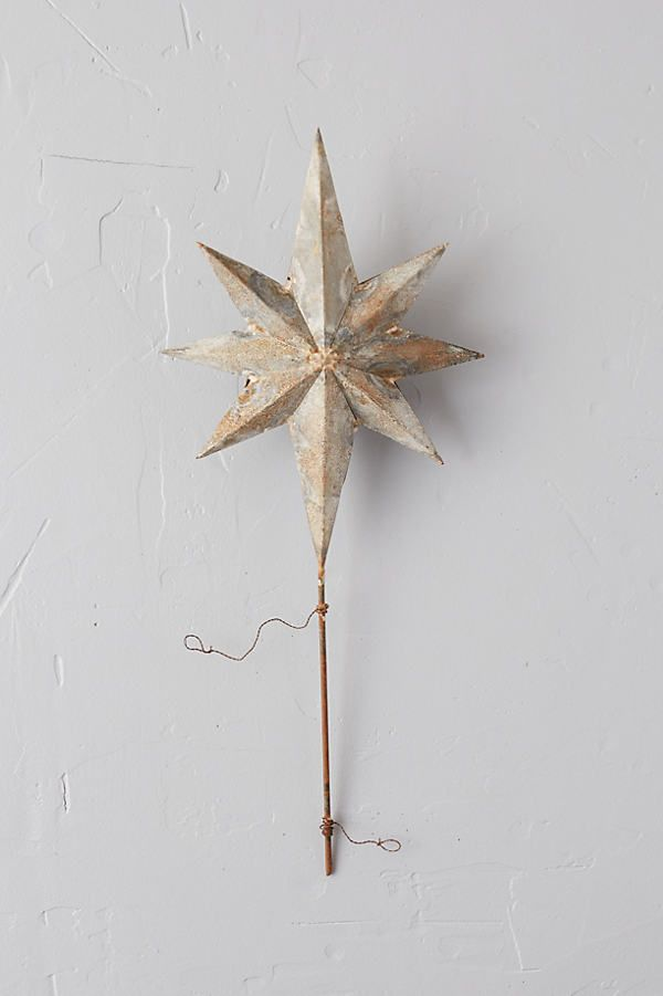 Aged Iron Star Tree Topper -   18 christmas tree topper diy star ideas
