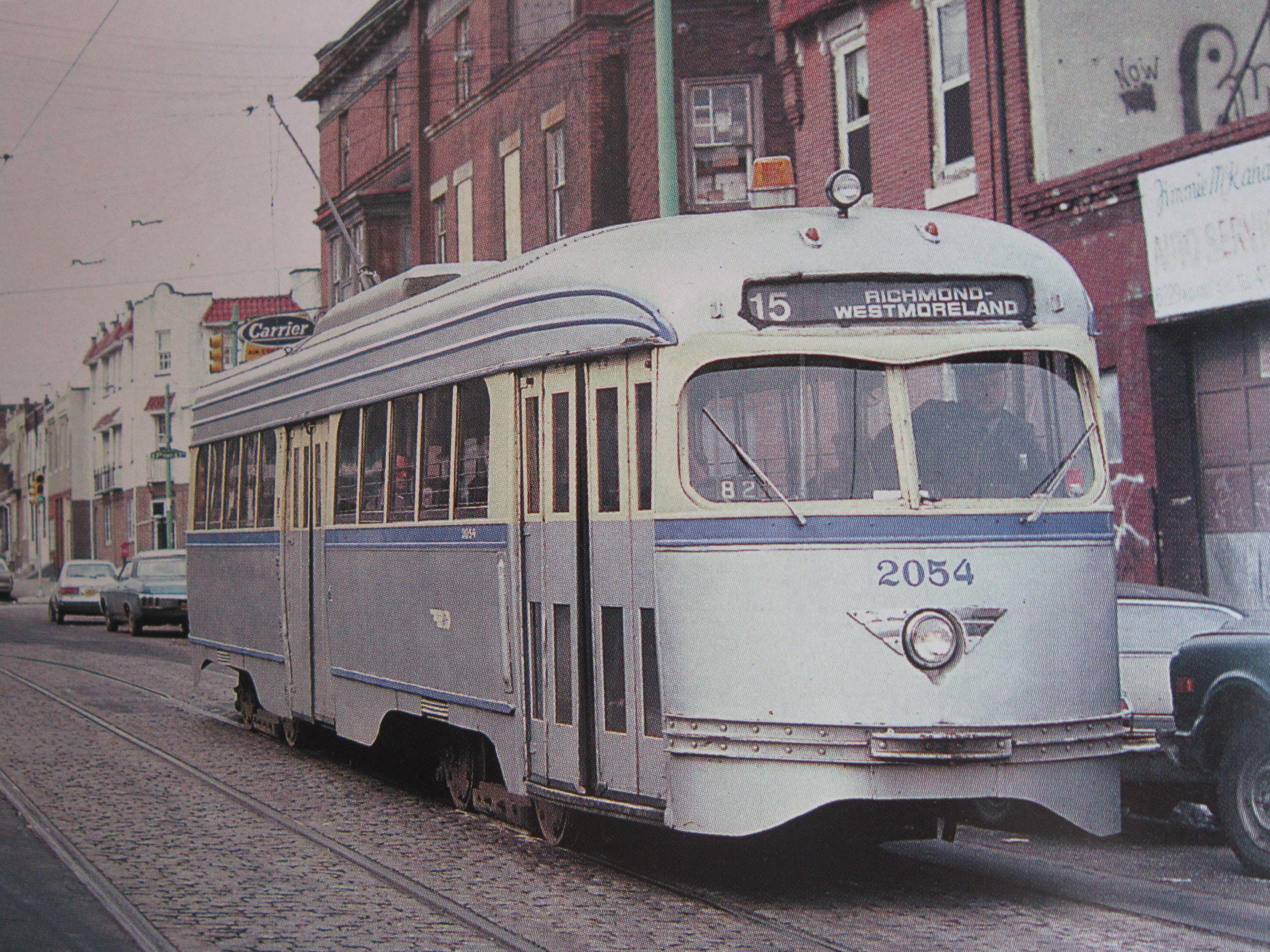 SEPTA RT.15 63RD.+GIRARD AVE. 1980S Street cars, Public