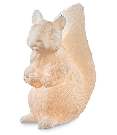 Share And Get A 10% Off Coupon Code! Squirrel Lamp: Porcelain Table Lamp