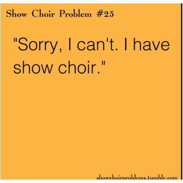 Show choir problems | Stuff That Makes Me Laugh | Choir ...