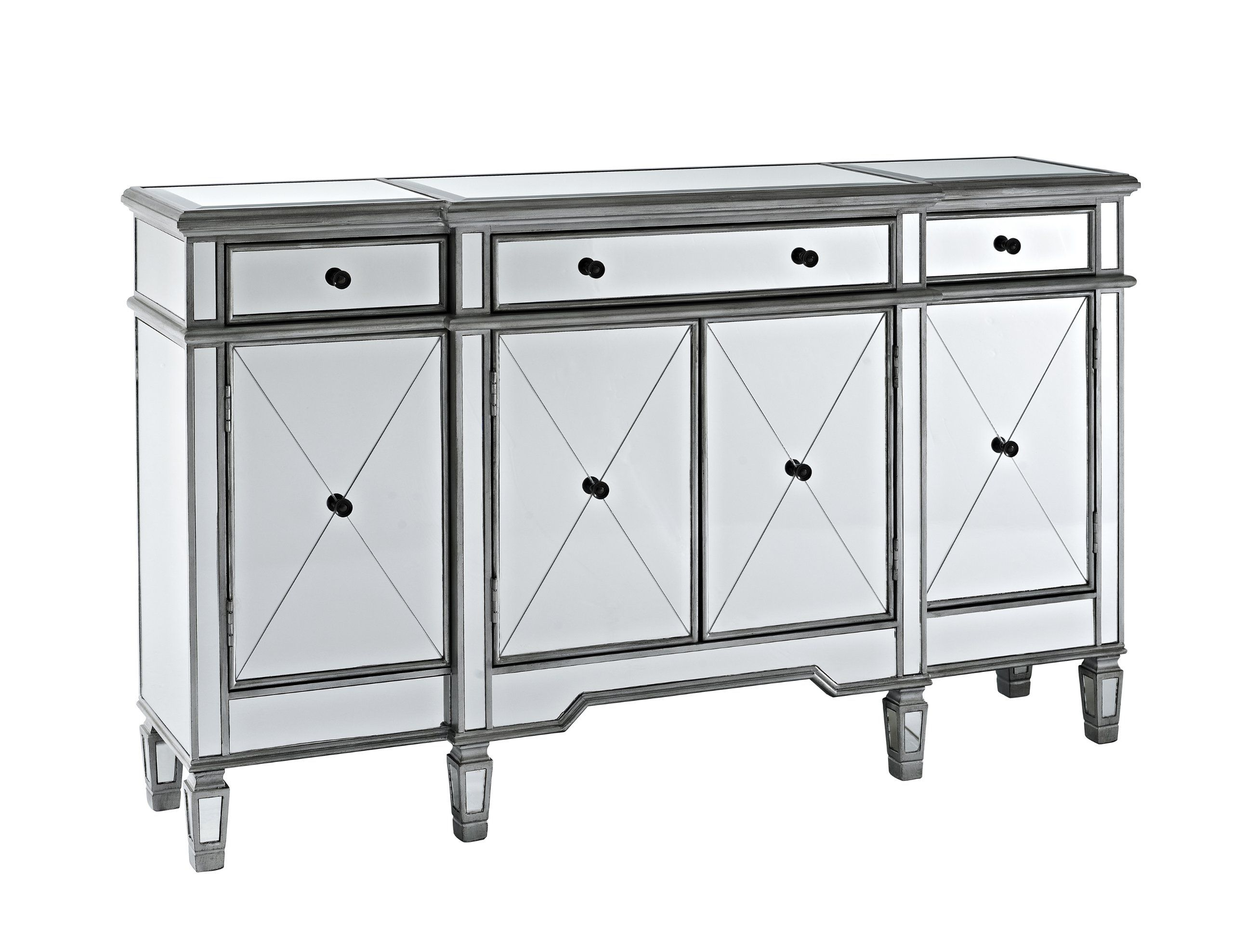 Amazon.com   Powell Company Mirrored 4 Door 3 Drawer Console   Free