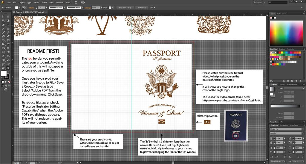 This Passport Template Features A Generic Page Passport Wedding