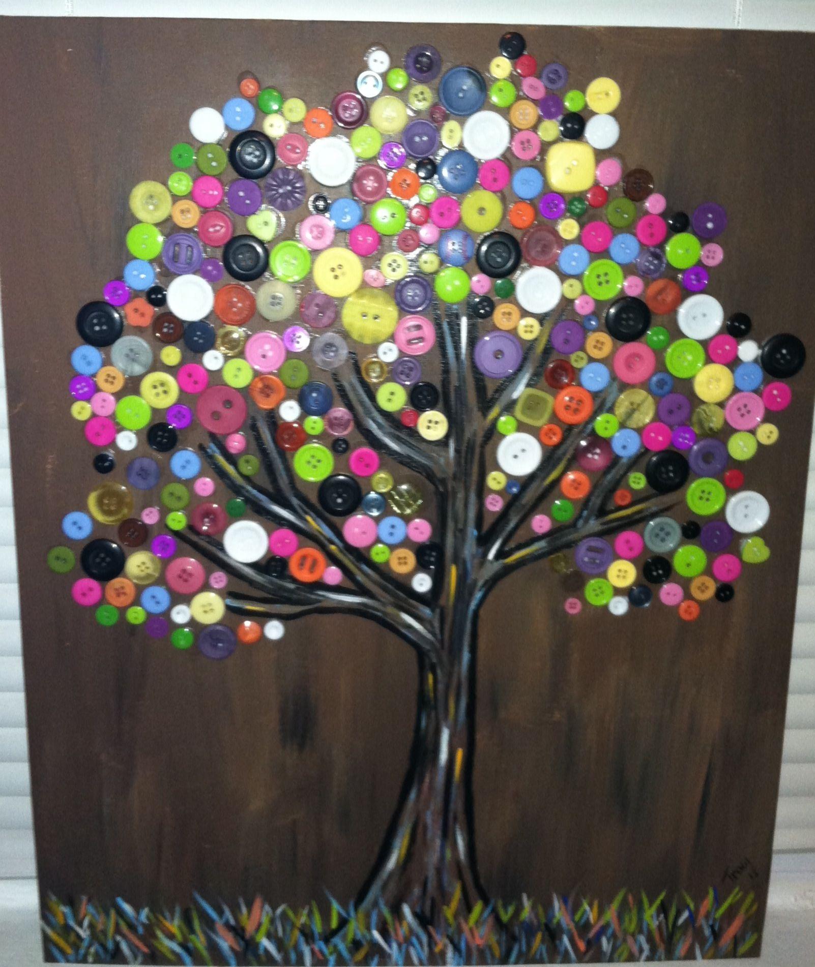 button tree things i made pinterest basteln basteln mit kn pfen und bastelideen. Black Bedroom Furniture Sets. Home Design Ideas