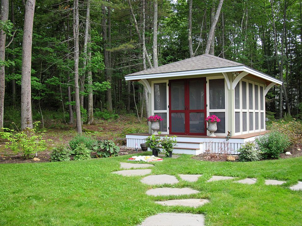 backyard screen house maine projects to try pinterest