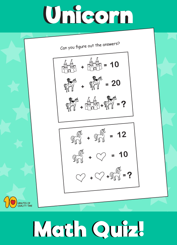 Unicorn Math Quiz (With images) | Bunny coloring pages ...
