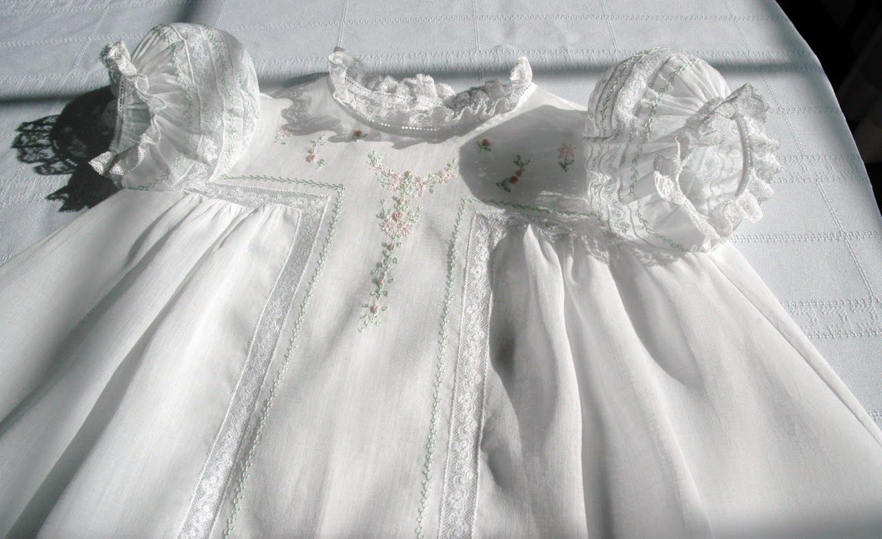 Old Fashioned Baby: Antique T-Yoke Gown, baby dress, and ...